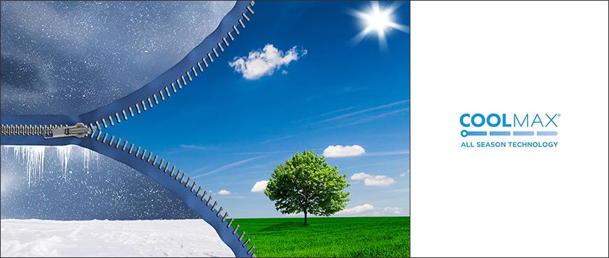 COOLMAX<sup>®</sup> EcoMade All Season Technology